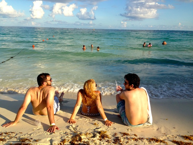 Chris Moorman and friends in Playa Del Carmen, Mexico